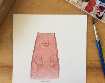 I've Got Bear Claws on My Bear Paws Watercolour