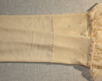 Ivory middle-arm mittens