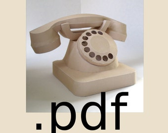 Telephone Papercraft PDF - DIY Template