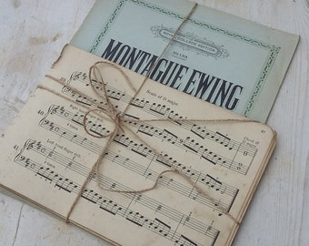 Vintage Music Sheets Music Papers Decorative