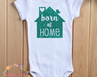 Born at Home Infant Onesie Bodysuit, Birdie on Roof, Infant T-shirt, Toddler T-shirt, Home Birth Advocacy