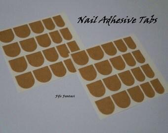 Nail Adhesive Tabs, 2 sheets 20 tabs each , Fake Nails, Press on Nails, Acrylic Nails, Nail Glue, Stick on nails, False Nails