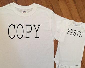 SALE! Matching Copy Paste Shirts SET, New Parents Matching Shirts, Matching Family Bear Silhouette TShirt Tops