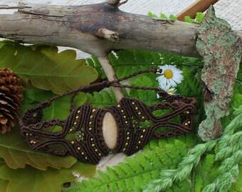 Arm cuff  Bracelet , Macrame arm Bracelet , Macrame arm cuff , Gemstone jewelry