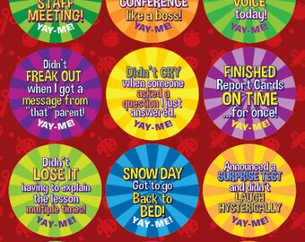 Yay-Me Adult Reward Stickers - TEACHERS