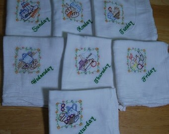 Daily Embroidered Dish Towels