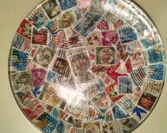 Postage Stamp Decorative Plate