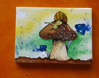 Snail: Mini Canvas & Easel