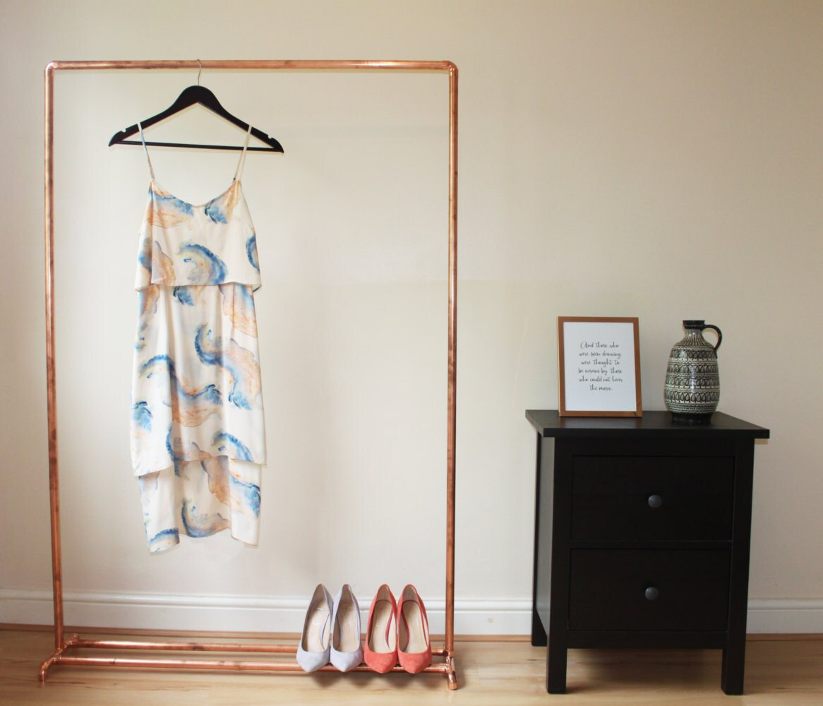 copper clothes rail rose gold industrial by hylandandboot. Black Bedroom Furniture Sets. Home Design Ideas