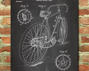 Bicycle Art, Gifts for Cyclists Gift Idea, Bicycle Wall Art, Bike Decor, Cycling Gifts, Husband Bike Gift, Vintage Bike Bicycle Poster P037