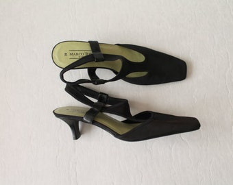 Black Fabric Womens Shoes Ladies Closed Toe High Heel Pumps Size EUR 39,US 8.5