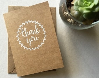 Thank You Greeting Cards | Thanks | Thank You Note | Wedding Stationary