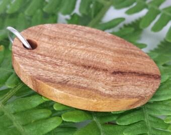 Oval Wood Pendant, Plum
