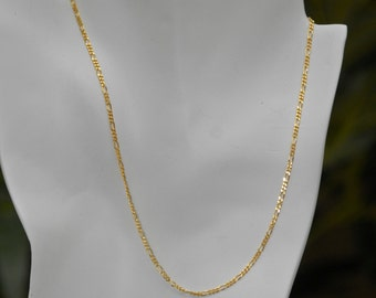 Dainty Minimalist Delicate 18k Gold Filled Figaro Chain Necklace