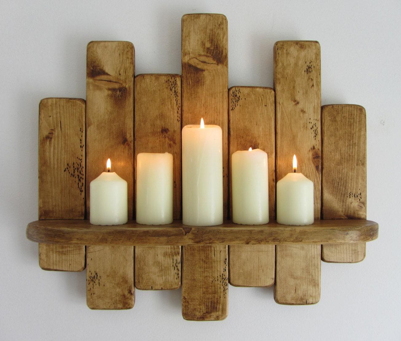 Pallet Wood Shelf: 50 Cm Rustic Reclaimed Pallet Wood Floating Shelf Kitchen