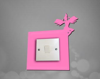 acrylic fairy light switch surround light switch plate light switch cover available in 10