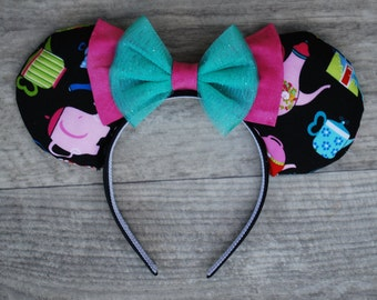 """Alice in Wonderland Inspired Mouse Ears """"Tea Party"""""""