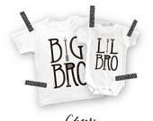 Big brother Little brother trendy family set, Aztec, Shirt Big Bro Shirt Lil Bro, Onesie Boys Shirt White with Black New Brother arrow shirt