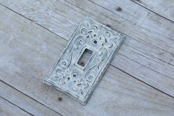 Custom color cast iron light switch covers by