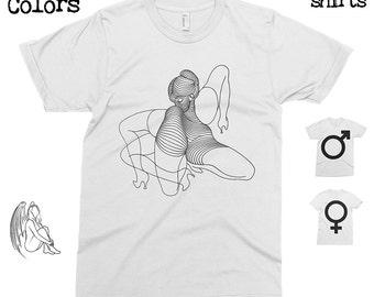 Bellmer Illustration T-shirt, Tee, American Apparel, Art, Artist, Ernst, Man Ray, Yotsuya, Zürn, Cute Gift