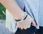 Lava diffuser bracelet | Essential oil diffuser. Gemstones. Lava beads. Christmas gift. Aromatherapy Jewelry. Lava bracelet. Beaded diffuser