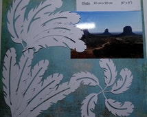Feather / feathers / cuts / cutouts / die cuts / cardstock white american craft / white / 15 lot / set of 15
