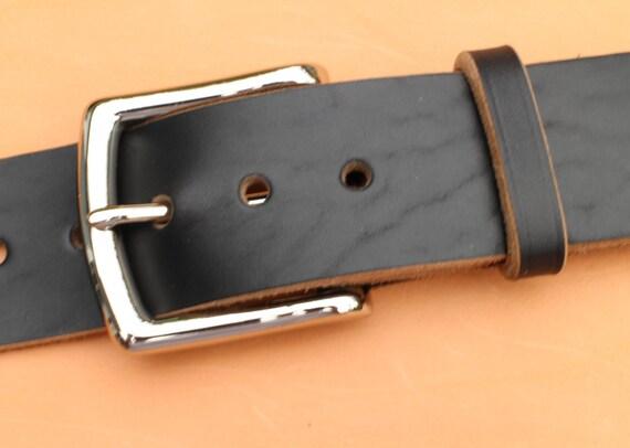 black horween chromexcel leather belt 1 5 width or