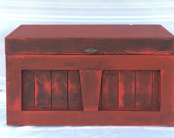 Primitive red chest