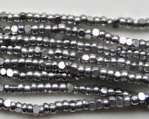 11/0 Charlotte Cut Beads Metallic Aluminium Silver 10/20/50/250/500 Grams 1300 Pieces