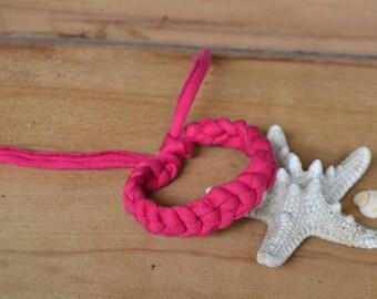 Summer bracelet, soft bracelet, women bracelet, fabric bracelet, kid bracelet, girl bracelet, braided bracelet, t-shirt yarn bracelet, boho