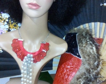 briodering beaded necklace pur coton.