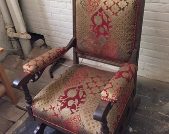 Vintage Rocking Chair Upholstered