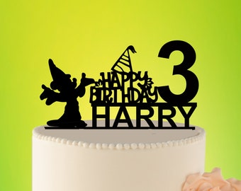 Gnome Birthday Cake Topper, Disney Cake Topper,  Kids Cake Topper Disney, Birthday Party Decor Disney, Kids Birthday, Party Decor L2-01-020