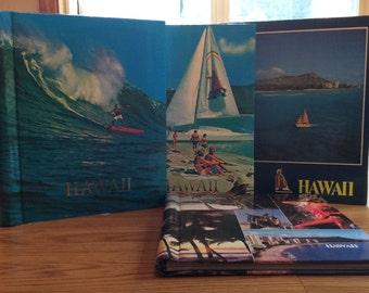 Vintage photo albums set of 4 Hawaiian pattern