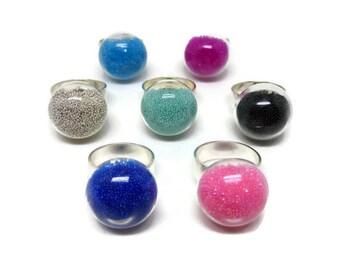Glass Ring, Statement Ring, Handmade Ring, Adjustable Ring, Gifts for Her, Christmas Gift, Birthday Gift, Stocking Filler, Secret Santa