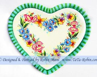309 Heartfelt Wreath Decorative Painting Pattern