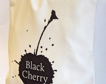 Black Cherry Logo Tote Bag