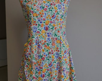 Vintage Floral Full-Length Apron