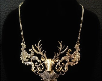 Elk/Deer Statement Necklace
