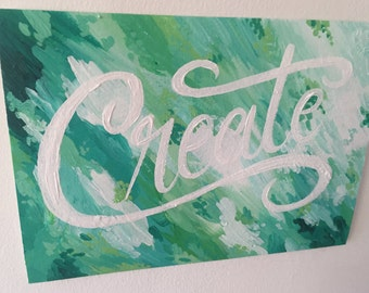Create - Hand Lettering
