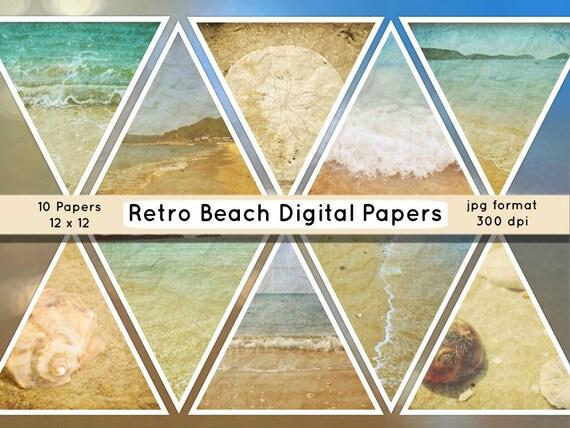 Beach Digital Paper Beach Photo Backdrops Paper Beach By TTLGC