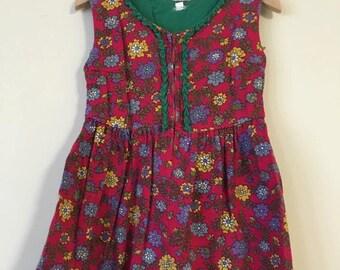 Toddler Burgundy Floral Dress