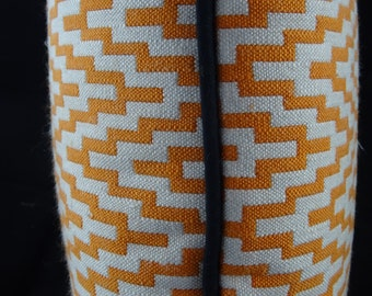 Orange Geometric Pattern Cushion