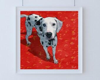 Custom pop art dog portrait (individual digital painting)