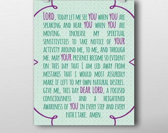 Let Me Hear You Morning Prayer - Printable, Instant Download