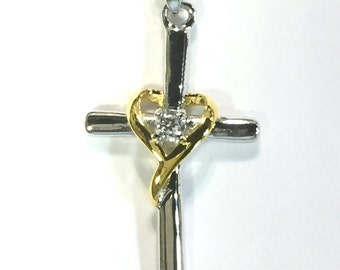 Two-tone Cross Sterling Silver 925