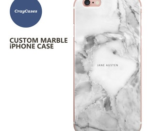 Custom Name Marble iPhone case, personalised marble iPhone 6s case, 6 Plus, 7, 6s Plus, cell phone cover (Shipped From UK)