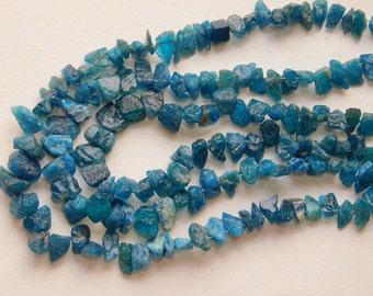 Blue APATITE Gemstone Rough Beads,