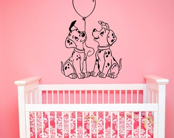 Dalmatians Wall Decal Vinyl Sticker Disney Cartoon Decorations for Home Housewares Kids Boys Girl Room Bedroom Nursery Decor dlm1