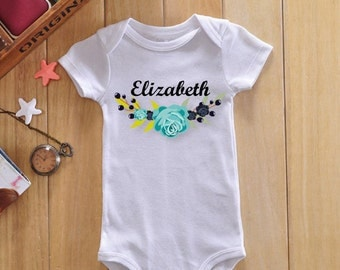 Personalized baby girl bodysuit, custom baby girl onesie, custom baby girl gift, custom baby girl clothes, personalized baby girl gift